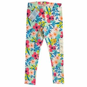 NWT Cat & Jack 5T Girls Floral Pattern Leggings/Tights